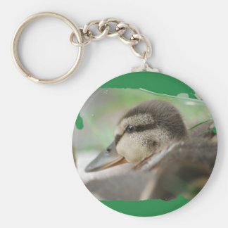 DUCKLING COLLECTION - by Jean Louis Glineur Basic Round Button Key Ring