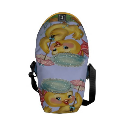 duckling with parasol courier bag