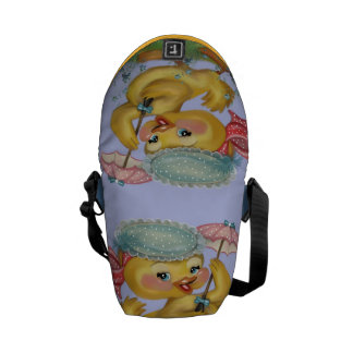 duckling with parasol messenger bag