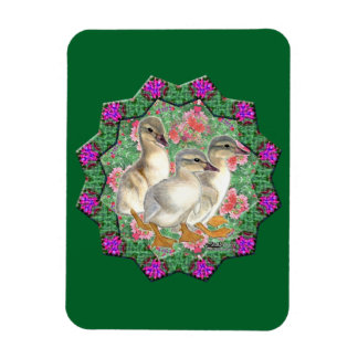 Ducklings and Flowers Magnet