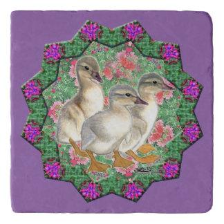 Ducklings and Flowers Trivet