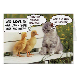 Ducklings and Kitten Card