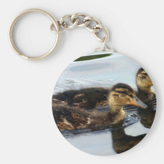 ducklings basic round button key ring