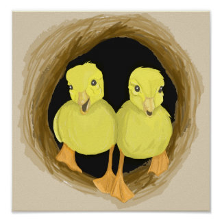 Ducklings in a Tree Poster