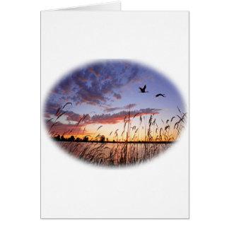 Ducks at Dawn-Duck Hunting Greeting Card
