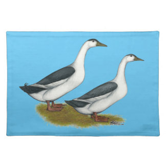 Ducks:  Blue Magpies Placemat