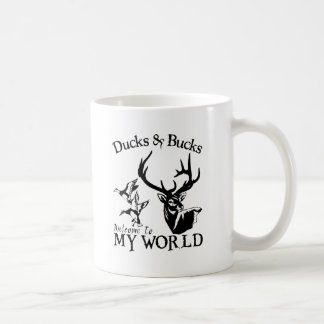 DUCKS & BUCKS CLASSIC WHITE COFFEE MUG