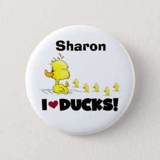 Ducks Duckie Yellow Duck Animals Kids Love Ducks 6 Cm Round Badge