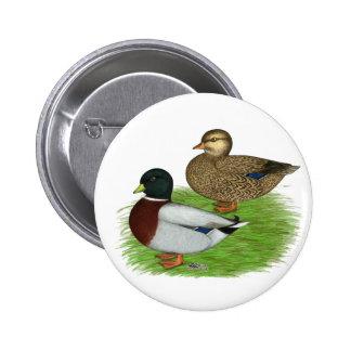 Ducks:  Gray Calls 6 Cm Round Badge