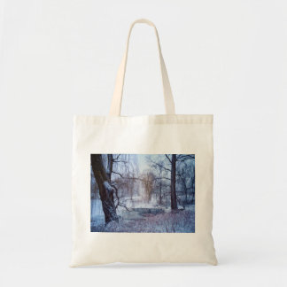 Ducks In A Frozen Pond In New York's Central Park Tote Bag