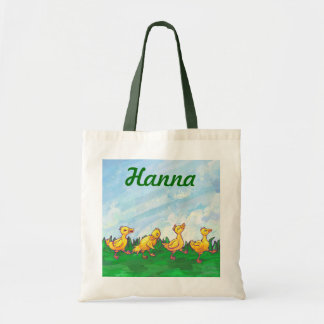 Ducks in a Row Personalized Tote Bag