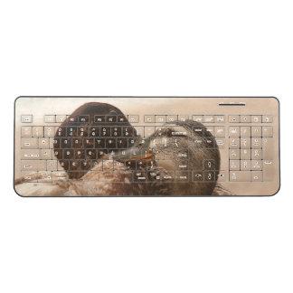 Ducks in Love Birds Animals Wireless Keyboard