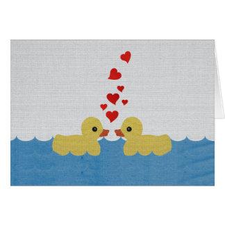 Ducks In Love Blank Greeting Card