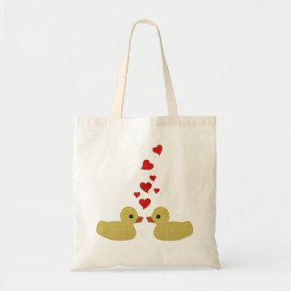 Ducks in Love Budget Tote Bag