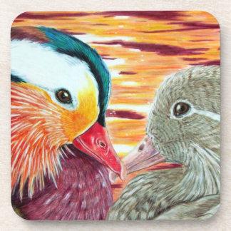 Ducks in Love Beverage Coasters