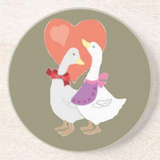 Ducks in Love Drink Coaster