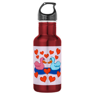 Ducks in Love Water Bottle