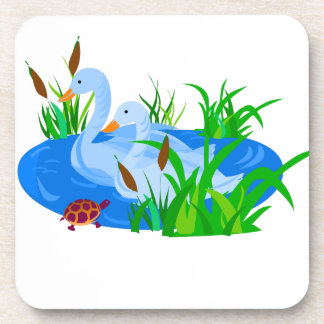 Ducks in water coasters