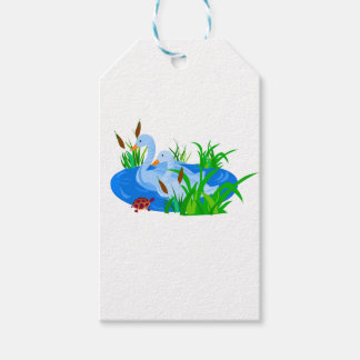 Ducks in water gift tags