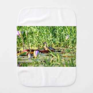 DUCKS IN WATER QUEENSLAND AUSTRALIA BABY BURP CLOTH