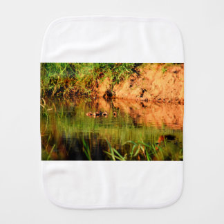 DUCKS IN WATER QUEENSLAND AUSTRALIA BURP CLOTH