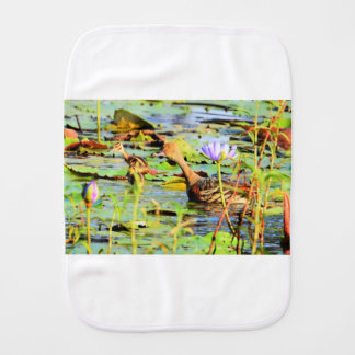 DUCKS IN WATER QUEENSLAND AUSTRALIA BURP CLOTHS