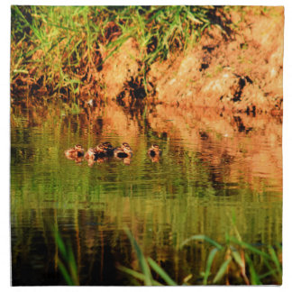 DUCKS IN WATER QUEENSLAND AUSTRALIA NAPKIN