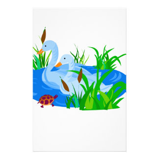 Ducks in water stationery