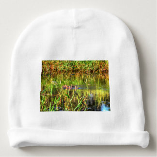 DUCKS IN WTAER AUSTRALIA ART EFFECTS BABY BEANIE