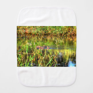 DUCKS IN WTAER AUSTRALIA ART EFFECTS BURP CLOTH