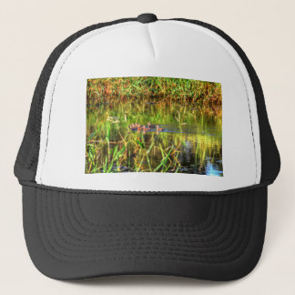 DUCKS IN WTAER AUSTRALIA ART EFFECTS TRUCKER HAT