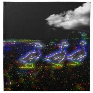 Ducks Night Walking Napkin