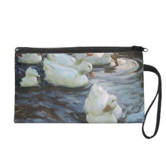 Ducks on a Pond Wristlet Purse