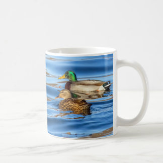Ducks On Blue Water Coffee Mug