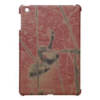 Ducks on Pond - Tan and Red iPad Mini Cases