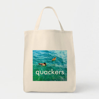 Ducks on the water bags
