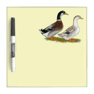 Ducks:  Silver Appleyard Dry Erase Board
