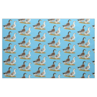 Ducks:  Silver Appleyard Fabric