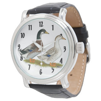 Ducks:  Silver Appleyard Watch