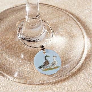 Ducks:  Silver Appleyard Wine Charm