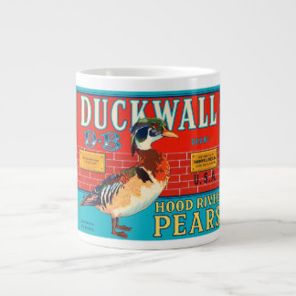 Duckwall Hood River Pears Vintage Crate Label Extra Large Mug