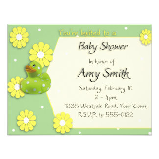 Ducky Baby Shower Personalized Invitation