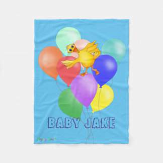Ducky Balloon Dance by The Happy Juul Company Fleece Blanket