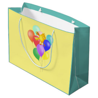 Ducky Balloon Dance by The Happy Juul Company Large Gift Bag