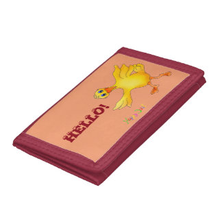 Ducky Balloon Dance by The Happy Juul Company Tri-fold Wallet