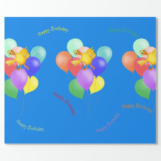 Ducky Balloon Dance by The Happy Juul Company Wrapping Paper
