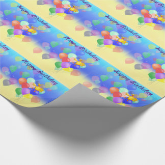 Ducky Balloon Flying by The Happy Juul Company Wrapping Paper