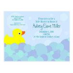 Ducky Bubble Bath Postcard