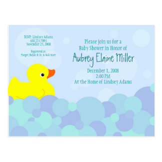 Ducky Bubble Bath Postcard