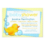 Ducky Bubbles - Blue Baby Shower Invitations 13cm X 18cm Invitation Card